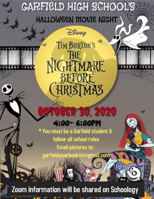 Garfield High School's Halloween Movie Night