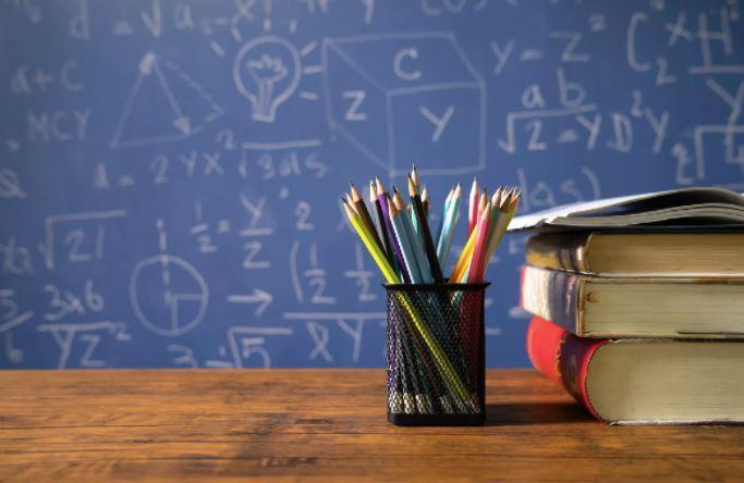 blackboard books pencils