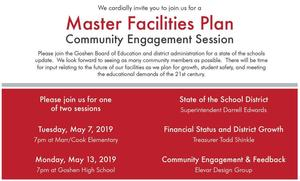 You're invited! May 7 public meeting regarding district facilities updates and improvements!