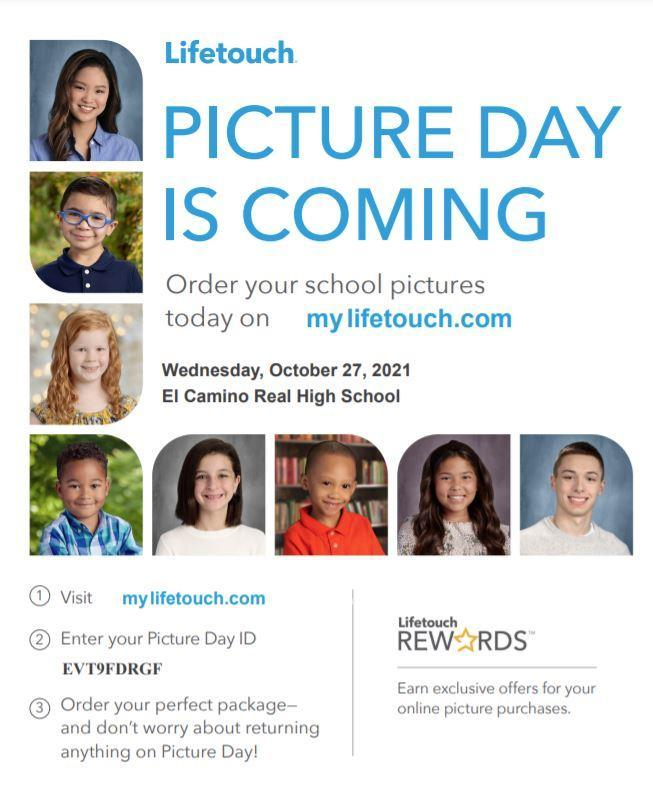 Picture Day is Coming, Wednesday, October 27, 2021 Featured Photo