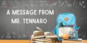 message from Mr. Tennaro
