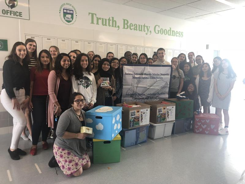 Maspeth High School Clubs Wrap Up School Supply Drive Featured Photo