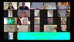 Ms. Pinto's student show off their dream house layout