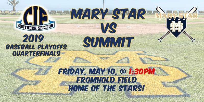 MSHS Baseball Quarterfinals @ 1:30pm Featured Photo