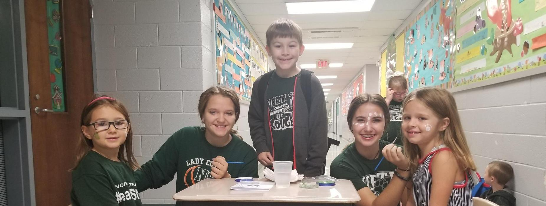 Face Painting at Central Elementary
