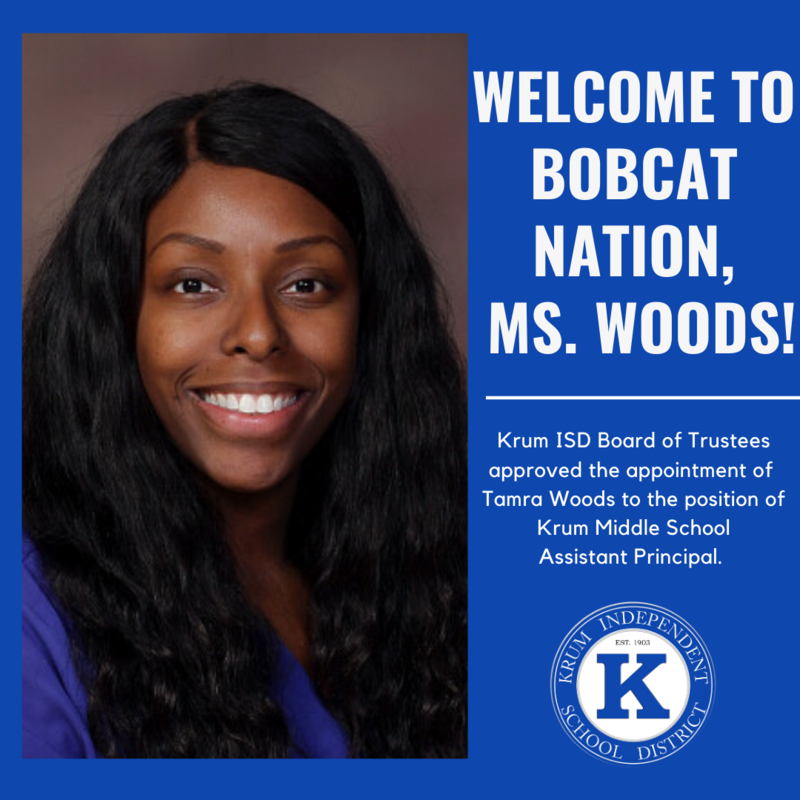 Krum ISD Appoints New Middle School Assistant Principal Featured Photo