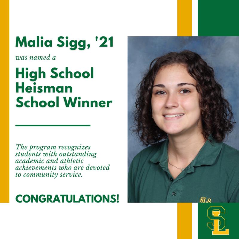 Malia Sigg High School Heisman