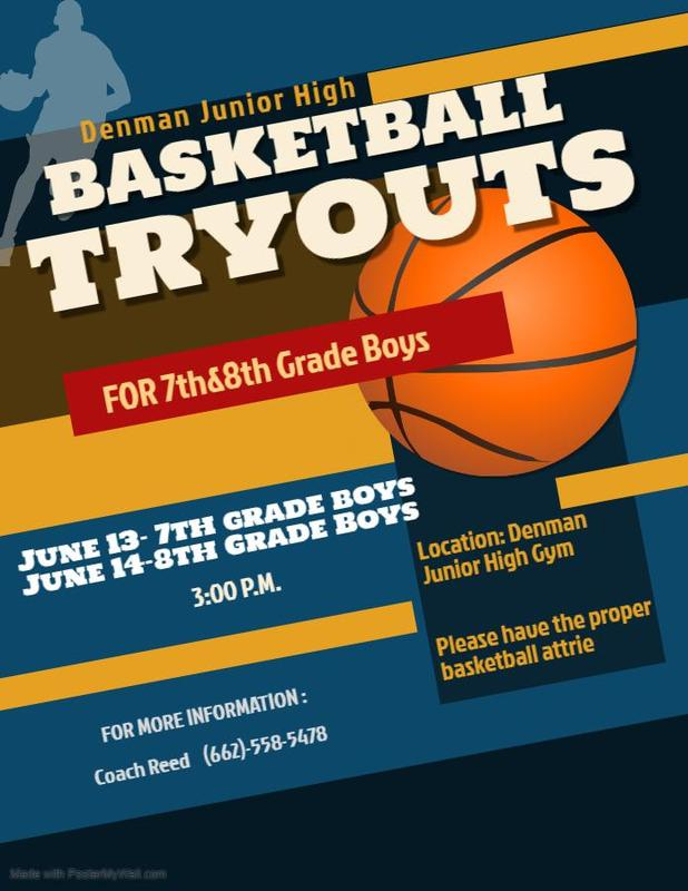 DJH Basketball Tryouts