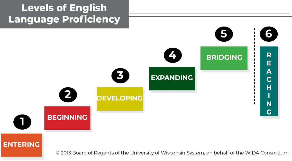 All-text graph, showing levels of EL proficiency