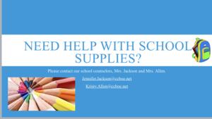 school supply flyer