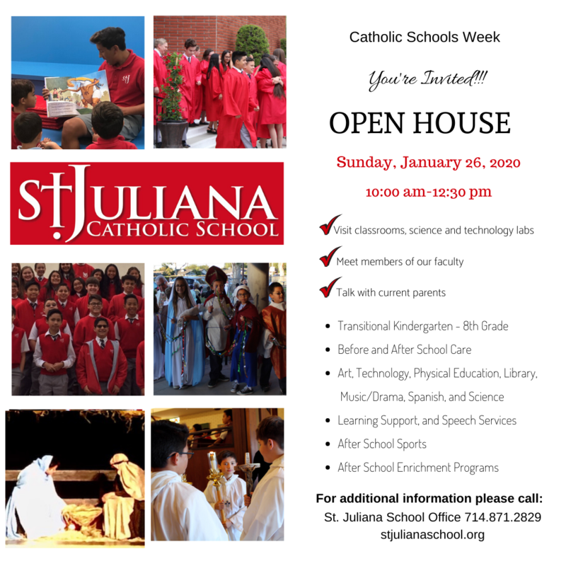 Open House - Catholic Schools Week Featured Photo