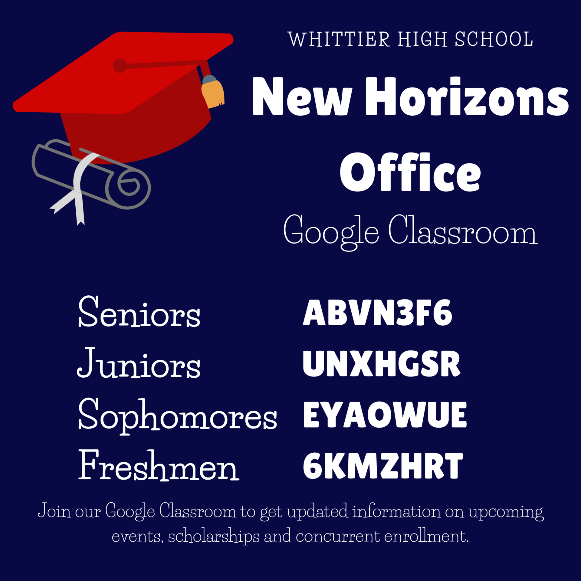 Horizons Google Classroom Flyer