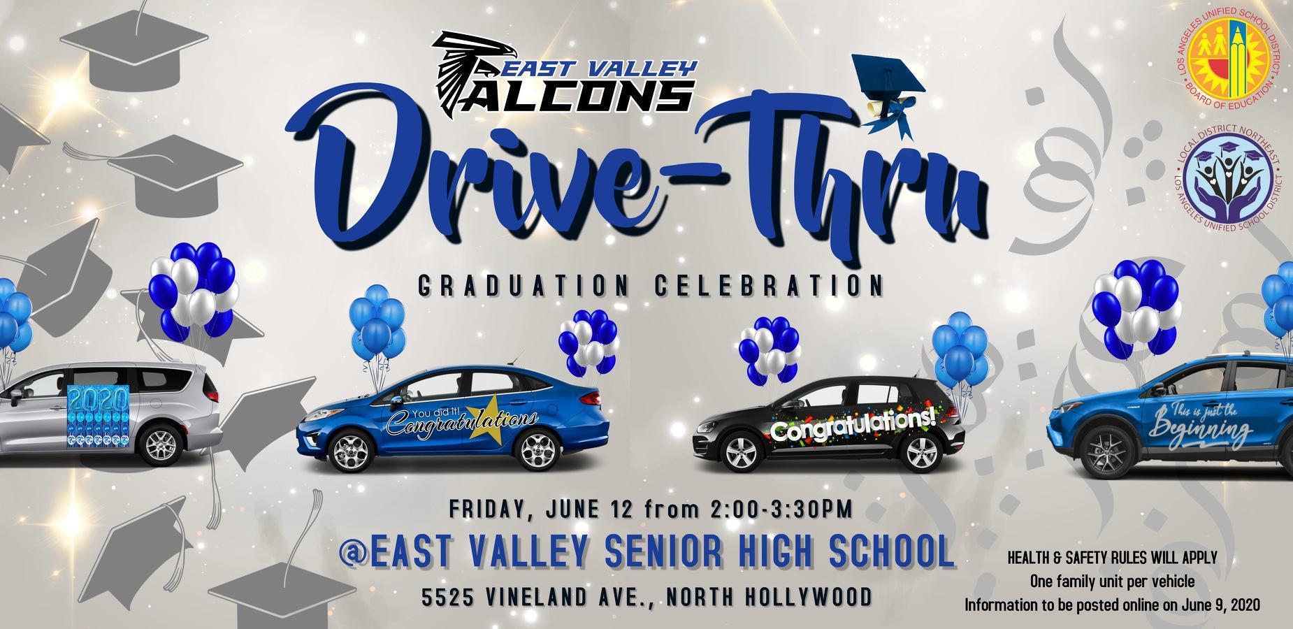Drive Thru Graduation Celebration following Virtual Grad Program