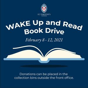 St. Timothy's School Book Drive for Wake Up and Read