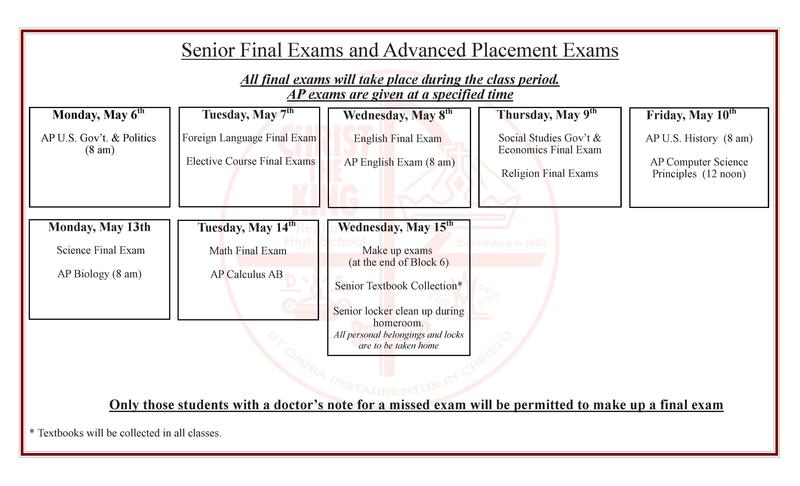Senior Final Exams and AP Exam Schedule Featured Photo