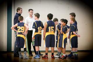Boys basketball shot