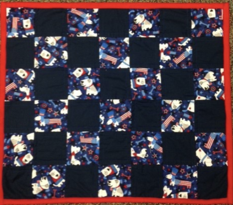 Small quilt in red, white and blue