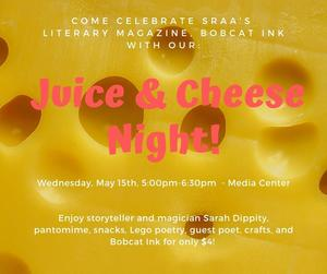 Juice and Cheese Night May, 15th 5-6:30