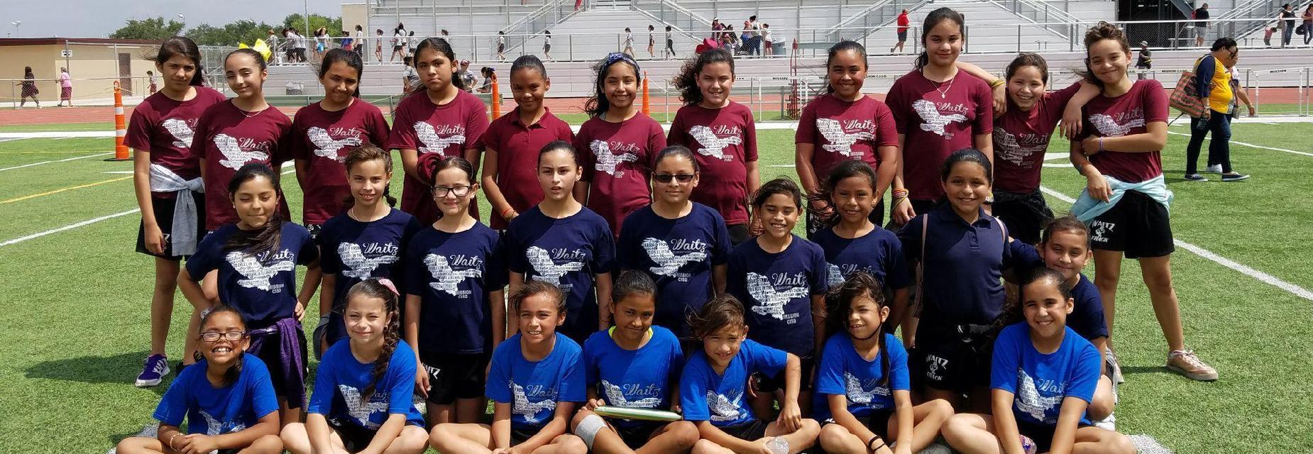 Girls Track team at meet