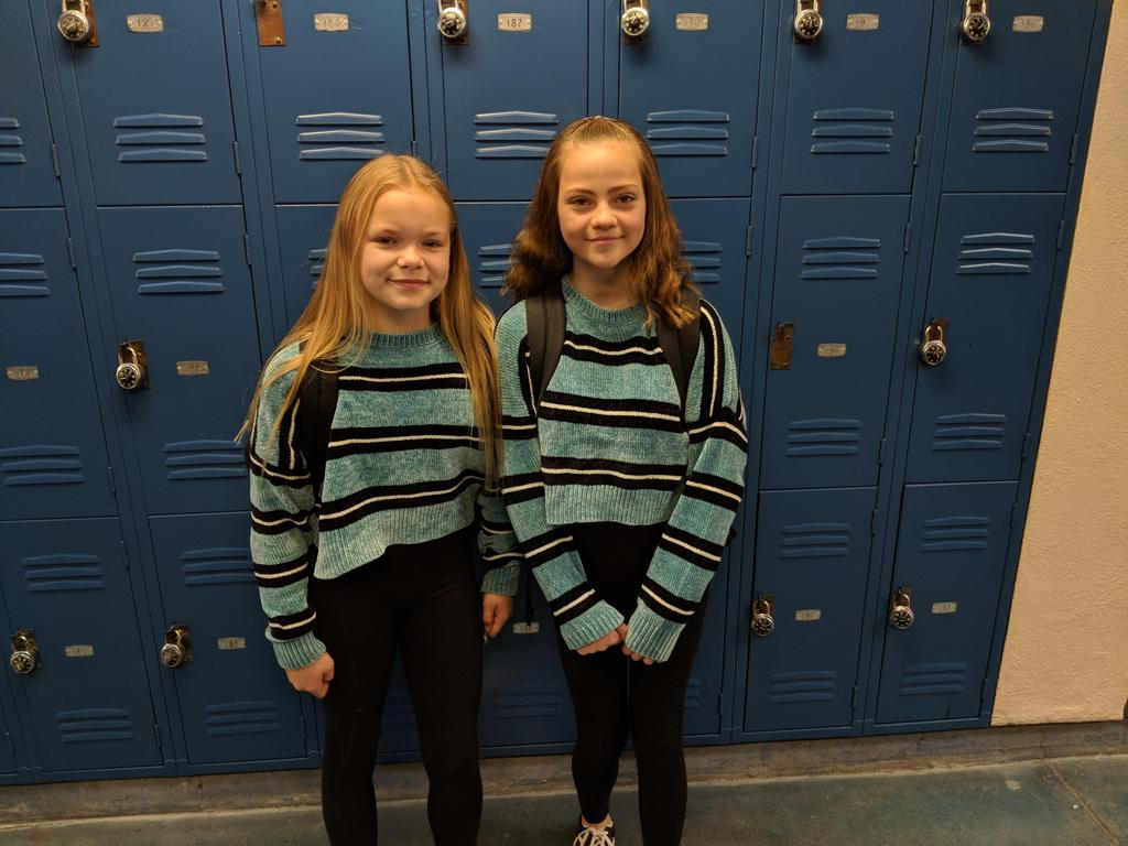 Students participating in Twin Day!