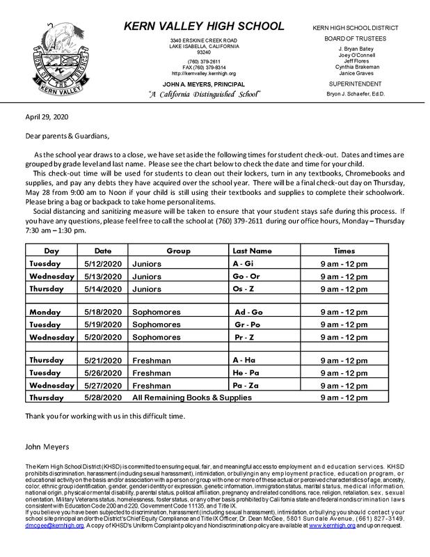 Non-senior checkout information
