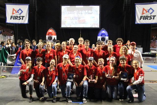 Robotics Takes 12th Place In Galileo Division at Worlds! Featured Photo
