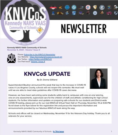 KNVCoS Newsletter Featured Photo