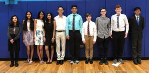 10 Snyder Middle School students dressed in dressy casual attire. They were participants in the PJAS Regional Competition.