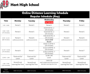Online Distance Learning Schedule