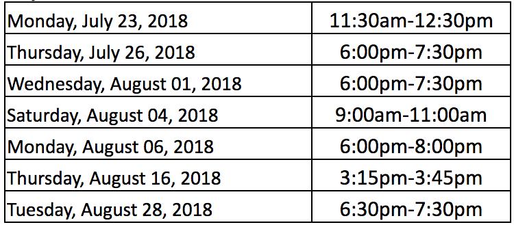 Uniform Exchange Dates Thumbnail Image