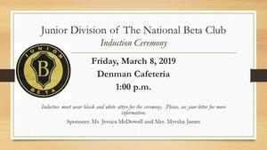 Denman Junior High School Set to host Junior Division of The National Beta Club 2019