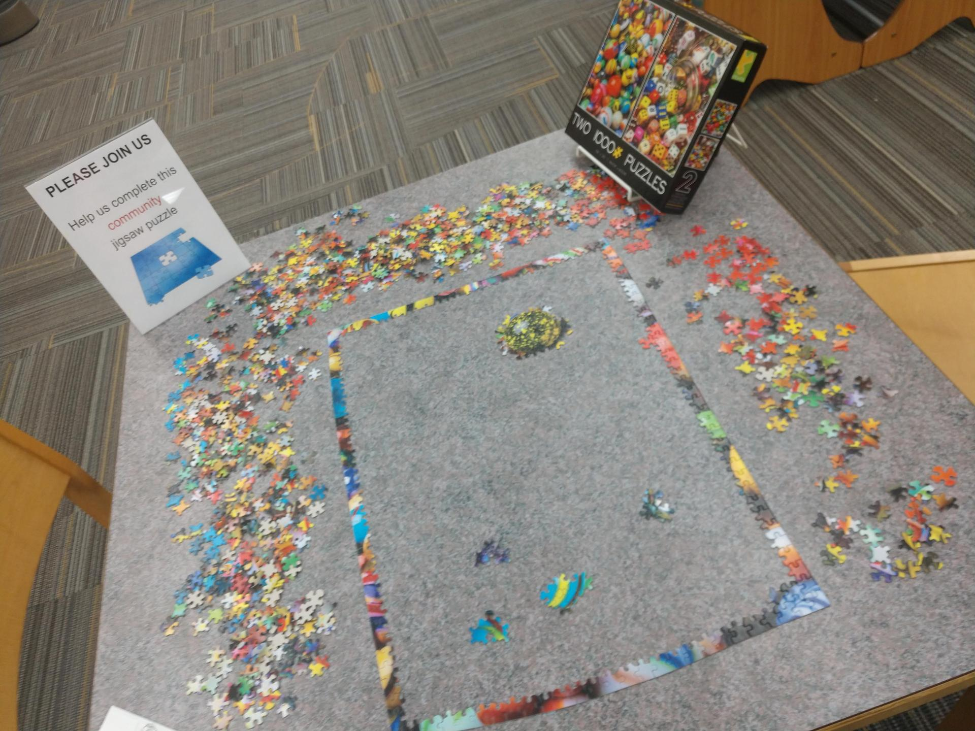 Community puzzle table