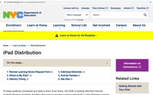 Snapshot of Ipad Distribution Page