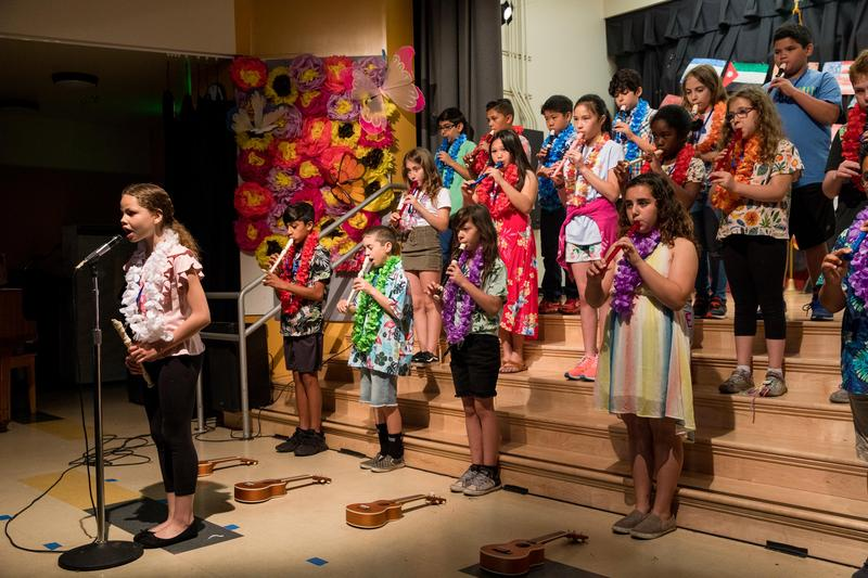 Students performing for the spring concert.