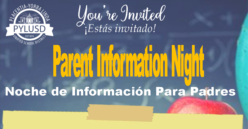 Parent Information Night.