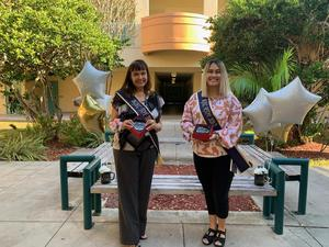 Picture of Teacher of the Year, Ms. Hunt and Rookie Teacher of the Year, Ms. Liza Hernandez
