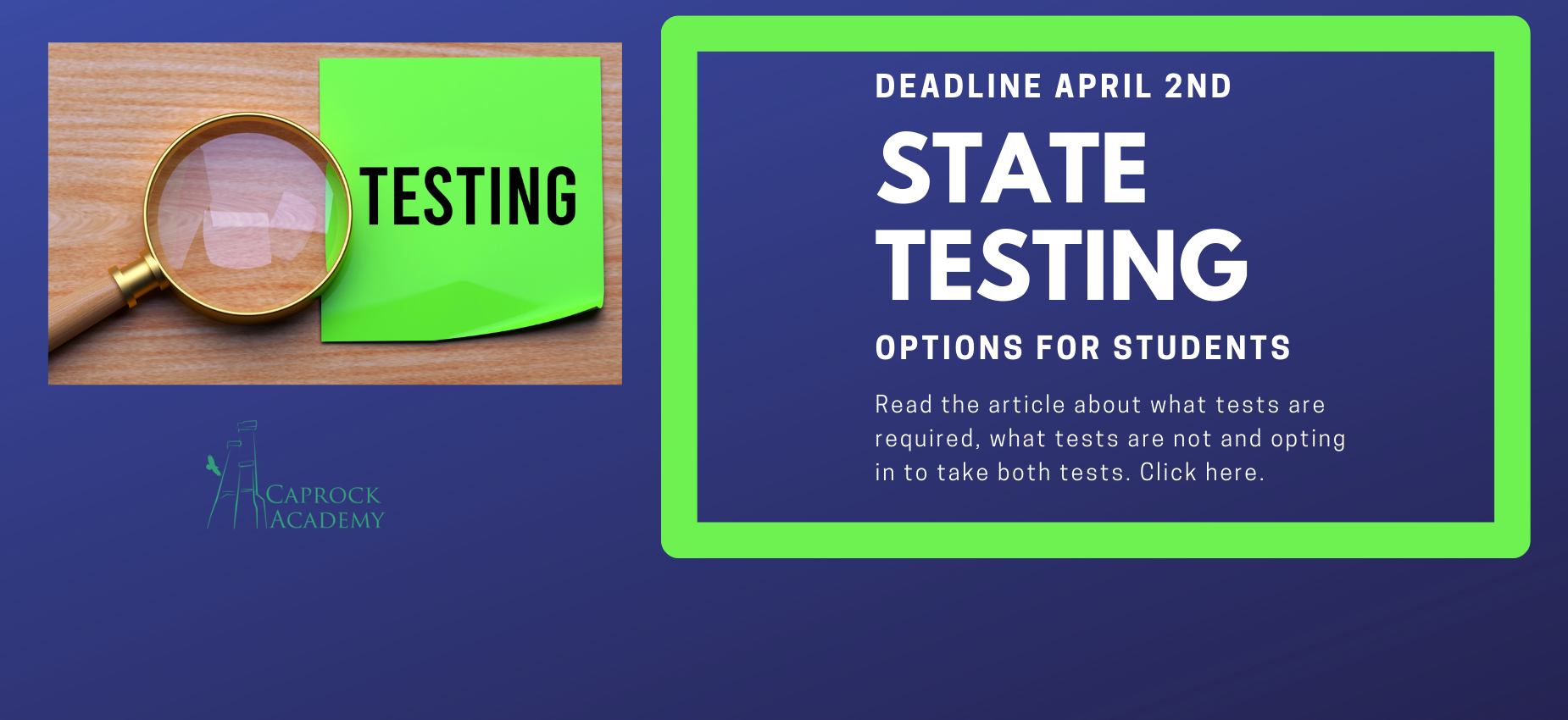 State Testing Requirements
