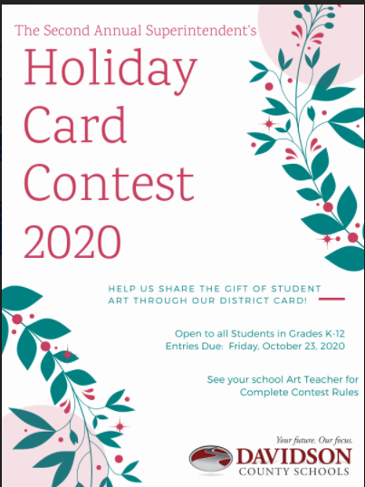 Flyer for holiday card contest.