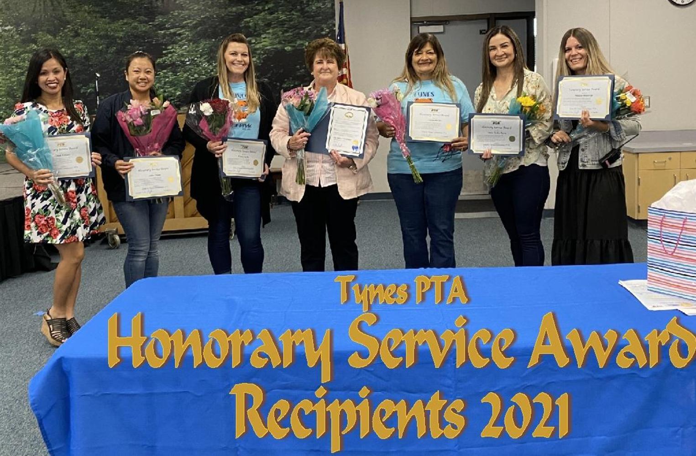 Service award winners