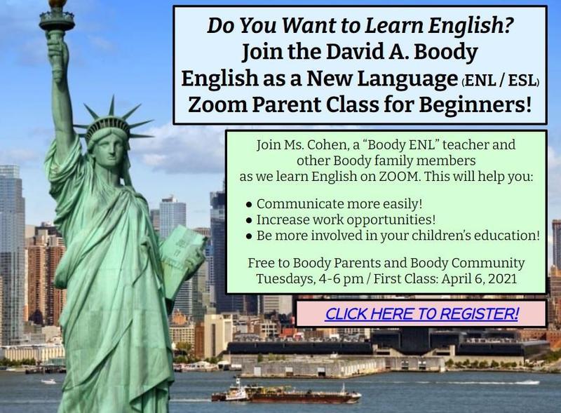 PARENT ENGLISH CLASSES