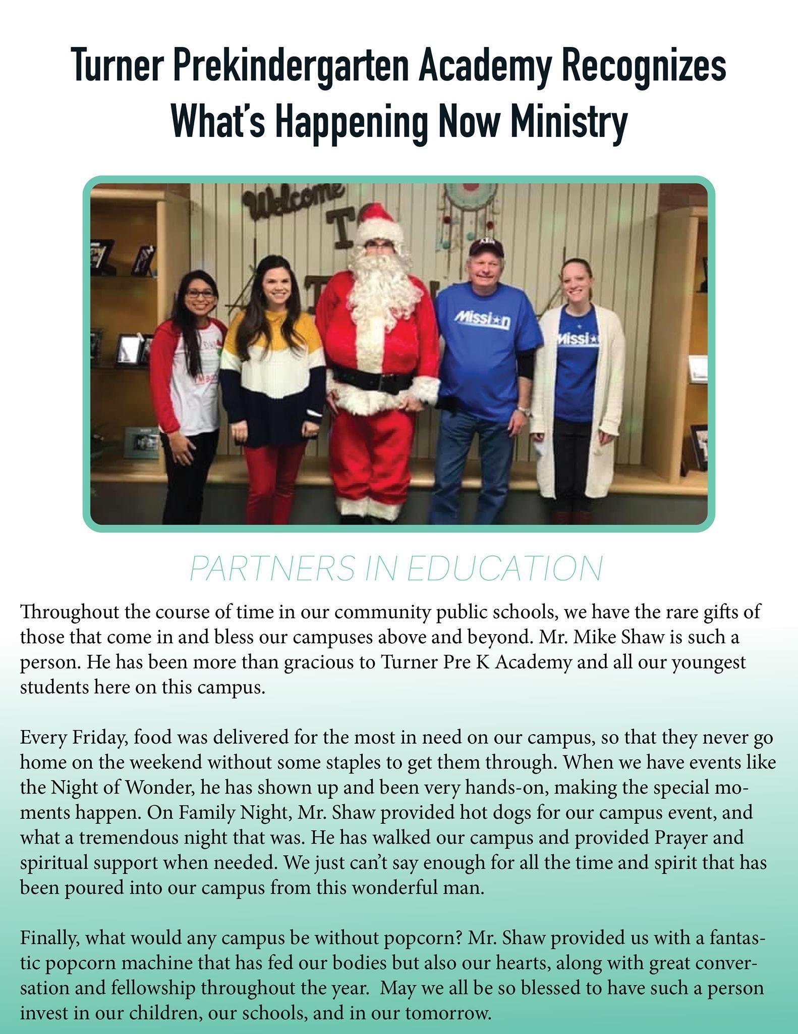 4 adults flanking santa clause