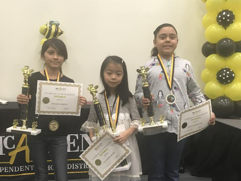 Spelling Bee top 3 for 2020