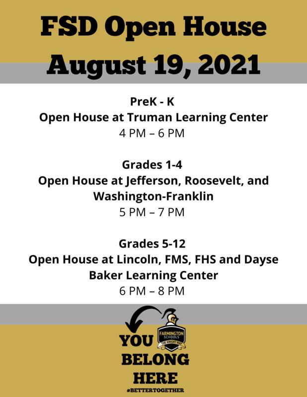FSD Open House August 19, 2021