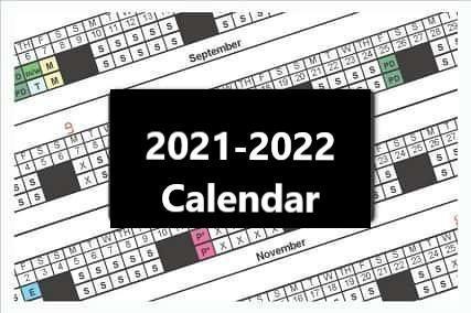 PPSB 2021-2022 School Calendar Thumbnail Image