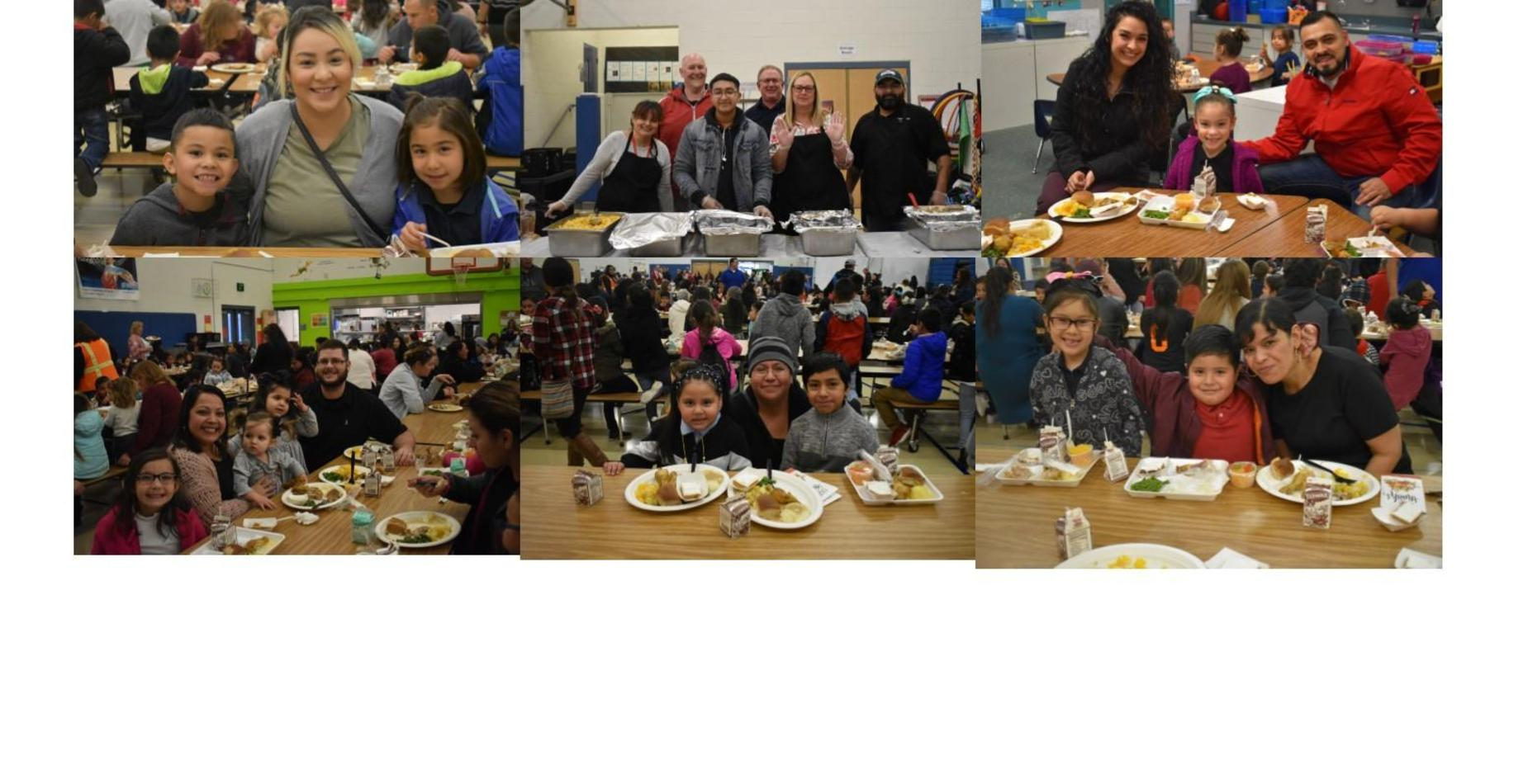 Families eating at our family luncheon.