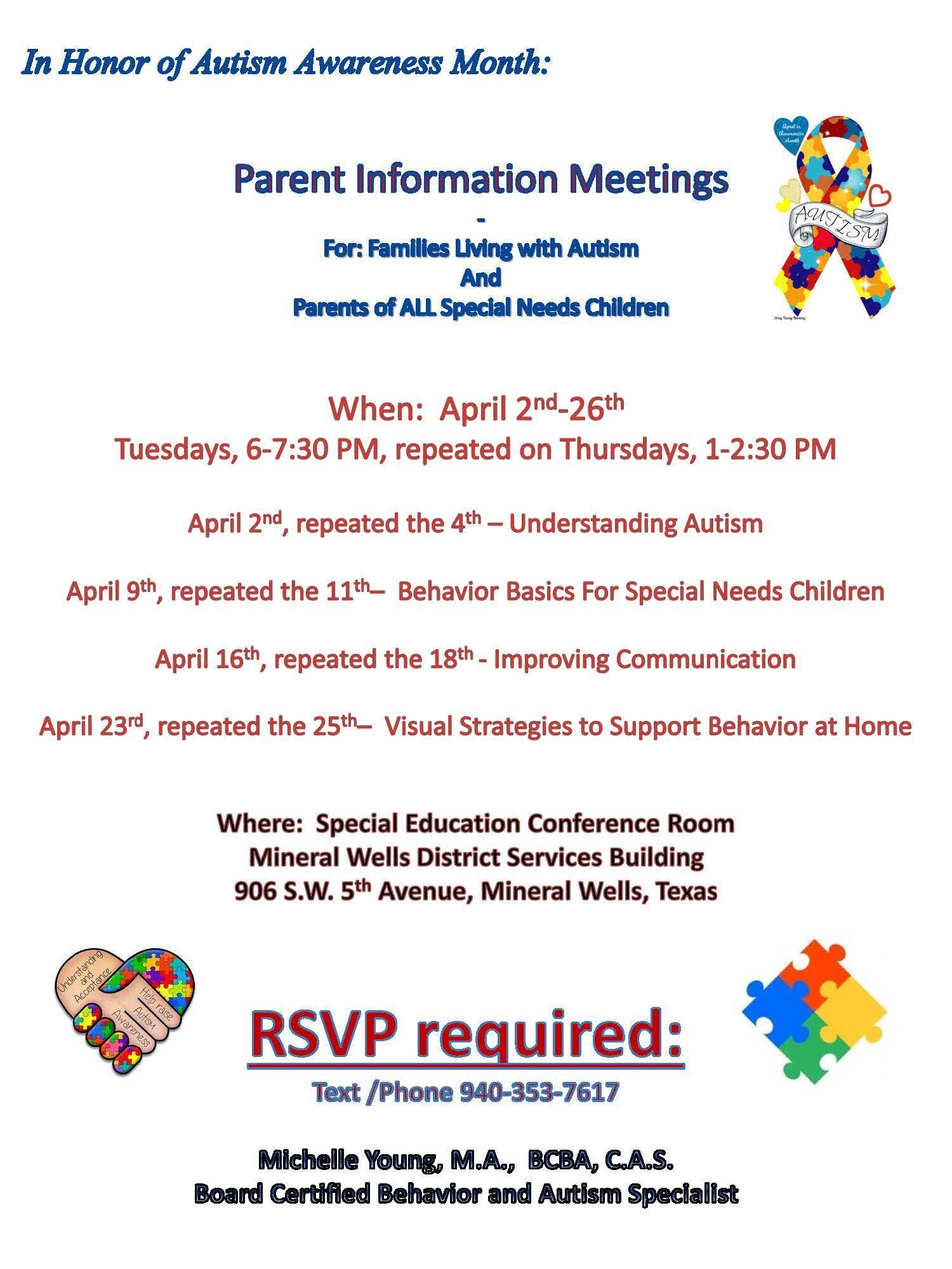 Autism Training April 2nd