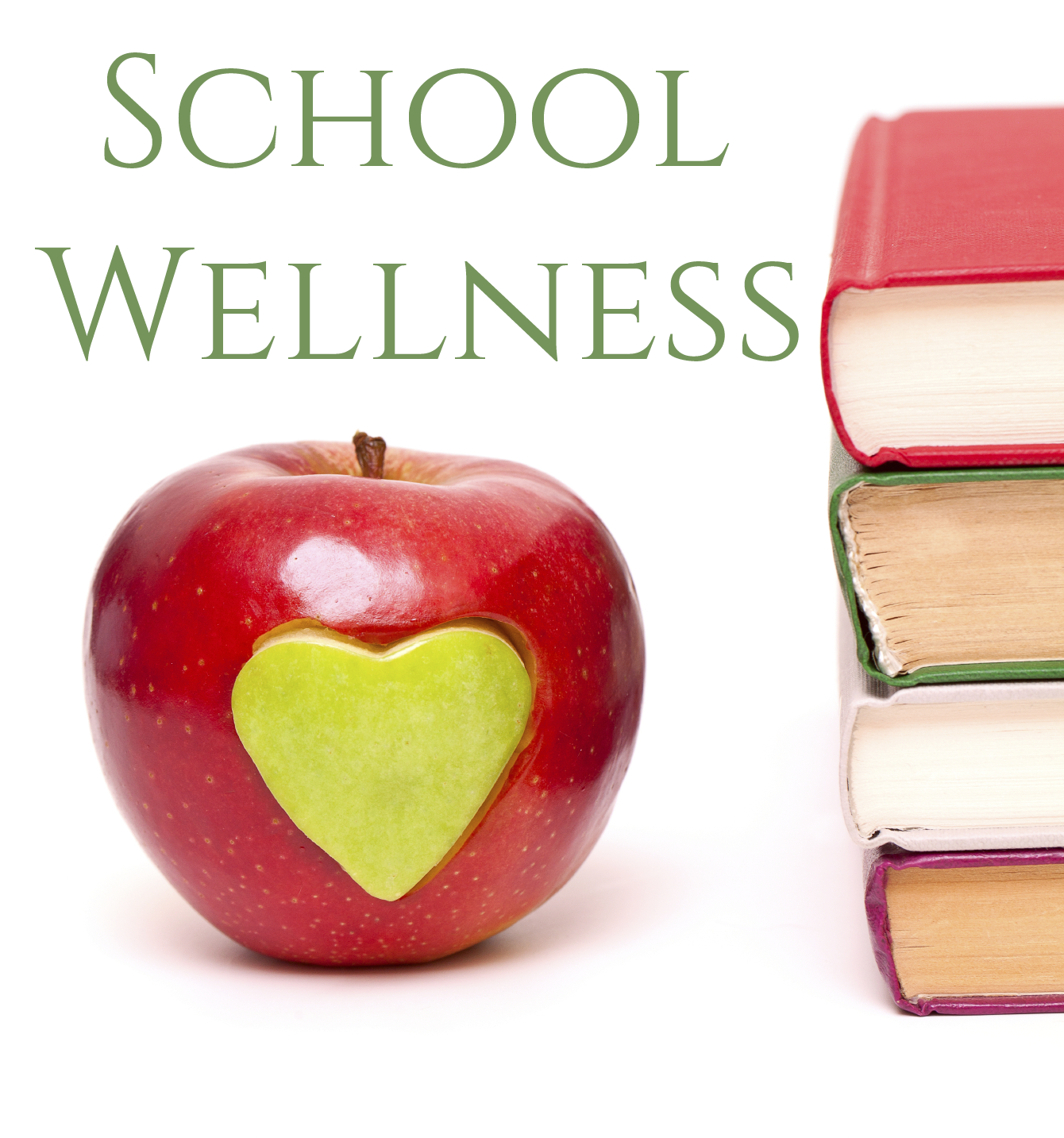 School Wellness with logo of a red apple with books