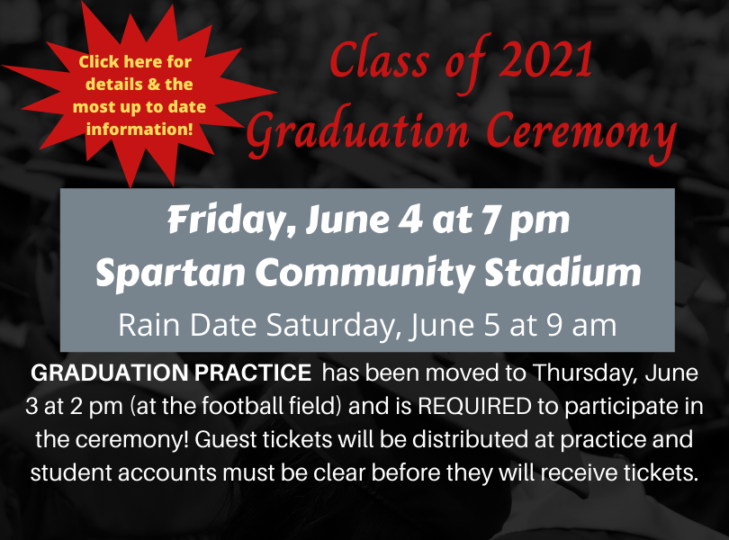 Click here for the most up to date graduation information