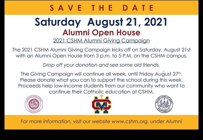 Alumni Open House August 21st   3pm - 5pm Thumbnail Image