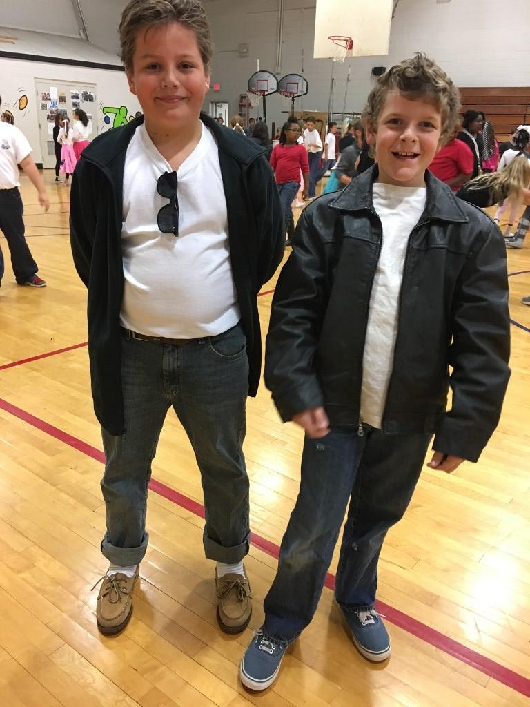 two boys posing